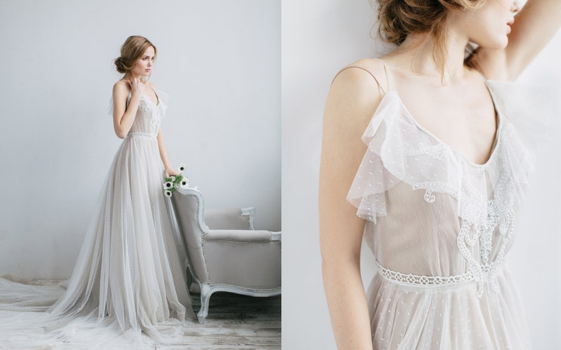 Wedding dress ROMI with long train from the collection Wedding image 0