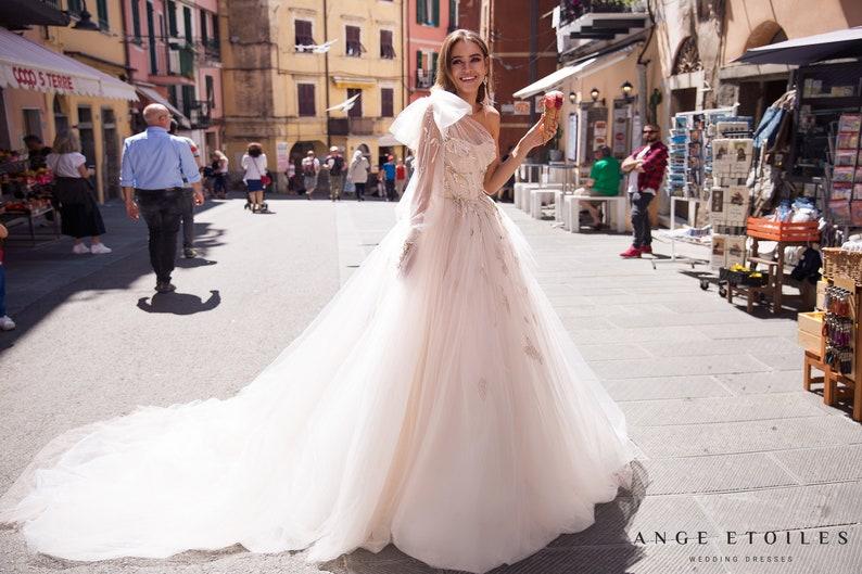 Princess wedding dress GRETTA with a long train by Ange image 0
