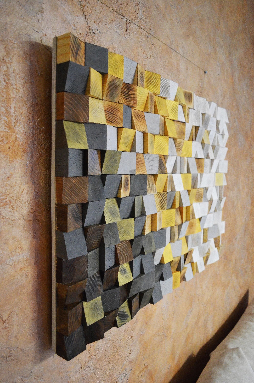 Wood wall art winter is coming reclaimed wood art 3 d wall art decor wood mosaic wood sculpture abstract painting geometric wall art