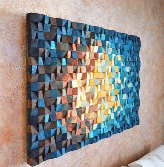 wood wall art the universe ready to ship reclaimed wood etsy