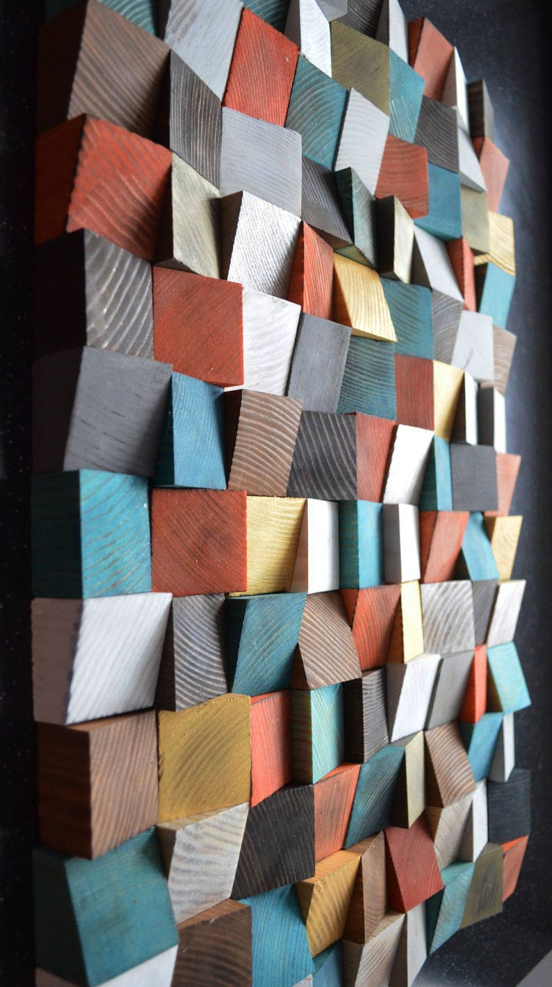 Geometric Wood Art Wood Art 3d Wall Art Abstract Painting On Wood Wall Installation Wood Pattern Wood Mosaic Wooden Wall Panels