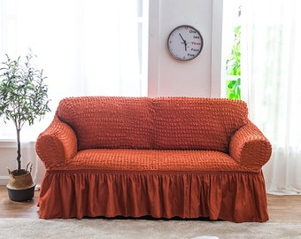 Awe Inspiring Slipcover Ruffled Slipcover Sofa Cover Sofa Scarf Slip Etsy Gmtry Best Dining Table And Chair Ideas Images Gmtryco