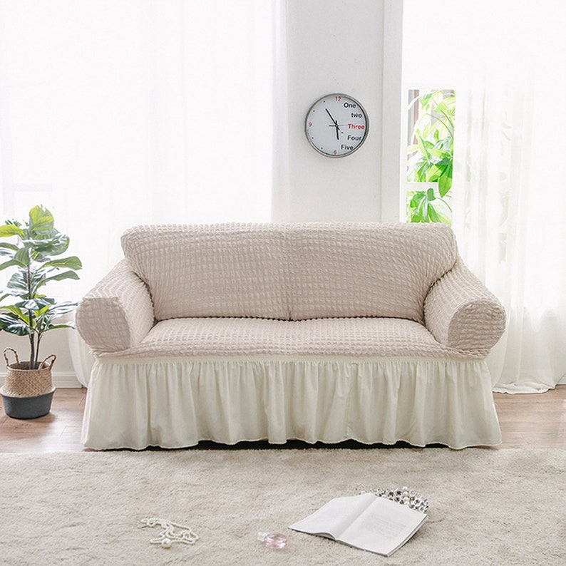 Phenomenal Couch Sofa Slipcovers Stretch Recline Cover Loveseat Sectional Slip Cover L Shaped Protector Armchair 2 3 Seater Spandex Ruffle Cover Pdpeps Interior Chair Design Pdpepsorg