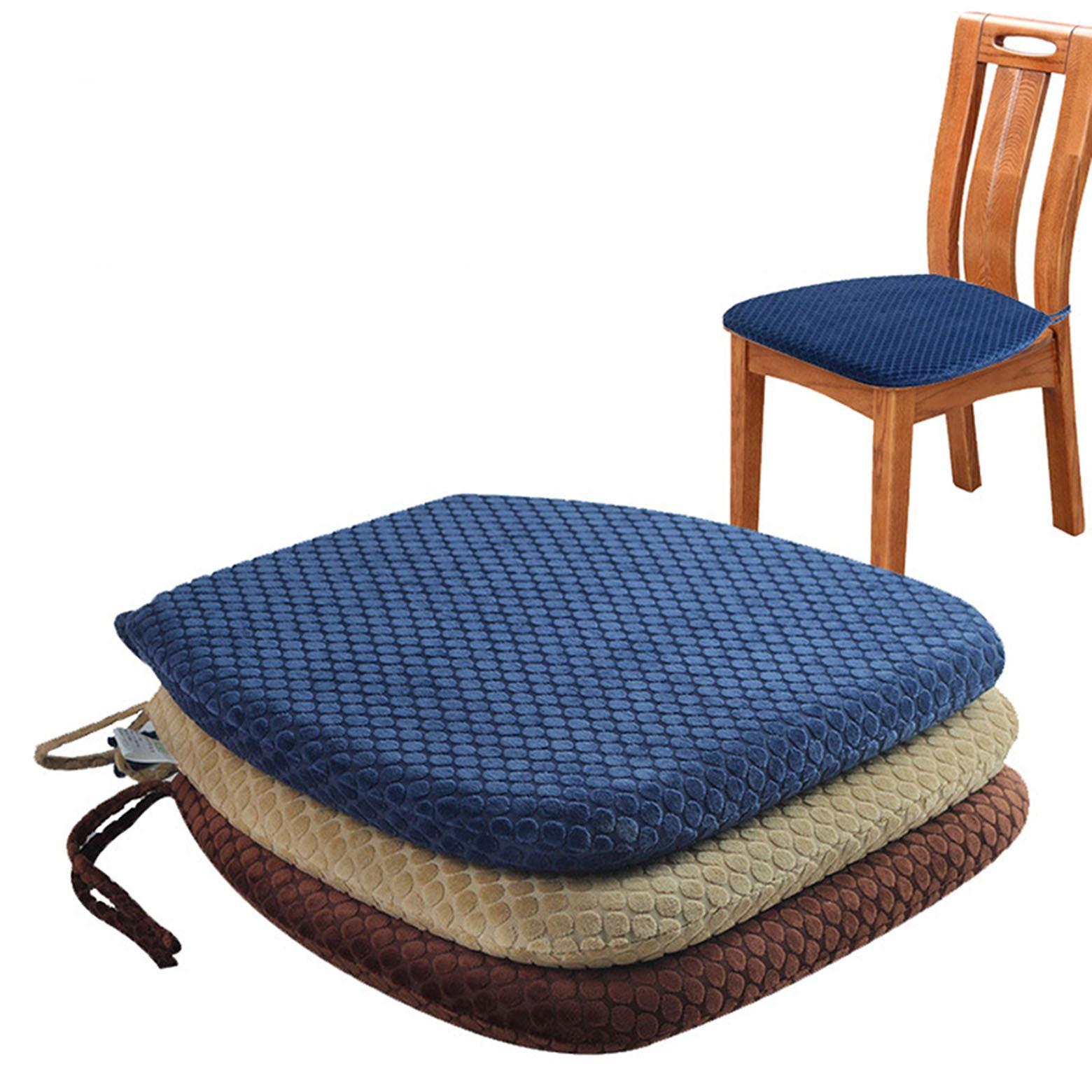 Velvet Memory Foam Chair Cushion, Memory Foam For Dining Room Chairs