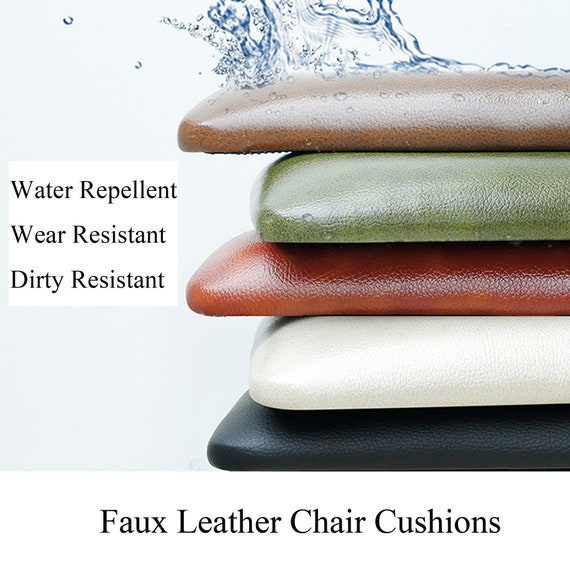 Brilliant Faux Leather Chair Cushions Bistro Patio Chair Pad Dining Kitchen Bar Stools Piano Window Bench Seat Pads Waterproof Custom Brown Black Gamerscity Chair Design For Home Gamerscityorg