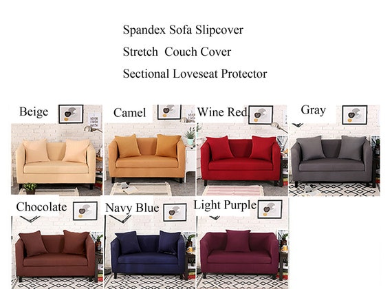 Miraculous Stretch Couch Cover Sofa Slipcover Spandex Loveseat Slip Cover Armchair 2 3 Seater Recliner L Shaped Sectional Fitted Sofa Protector Ncnpc Chair Design For Home Ncnpcorg