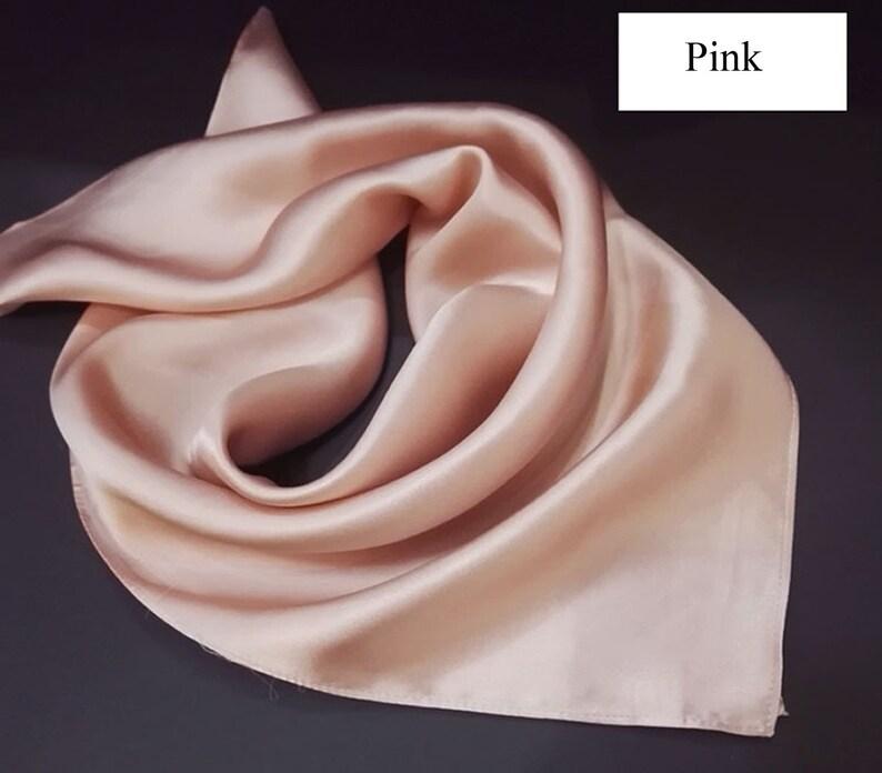 949b7d72d Silk Bandana Square Neck Scarves Plain Solid Color | Etsy
