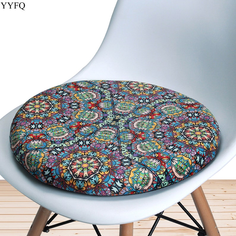 Swell Round Chair Cushion Memory Foam Vintage Kitchen Dining Stool Chair Pads Outdoor Patio Bistro Garden Farmhouse Non Slip Circle Seat Pad 16 Caraccident5 Cool Chair Designs And Ideas Caraccident5Info