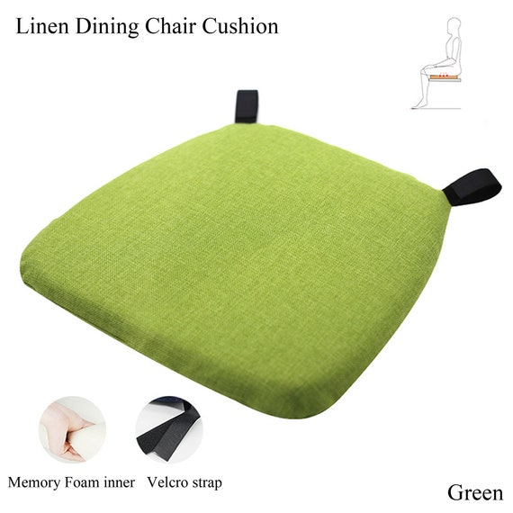 Zipped Removable Seat Pad//Cushion With Ties Suitable For Garden//Dining Chairs
