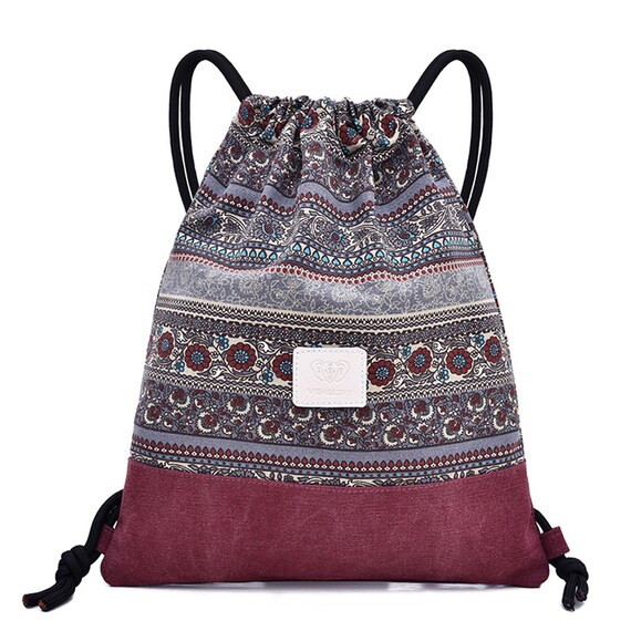 Nepal Boho Backpack Sporting Bags Cotton Bags School bags Mexican Bag