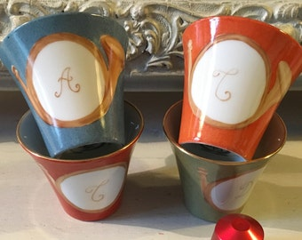 "4 ""Rambouillet"" coffee cups"