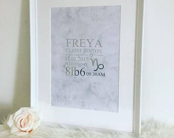 Personalised New Baby Christening Frame