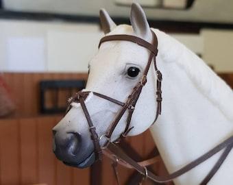 Model Horse Tack Snaffle Grackle Bridle - tack only