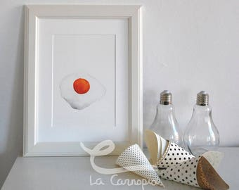 Fried Egg Watercolor Film, decorative film, A4, fried egg, customized