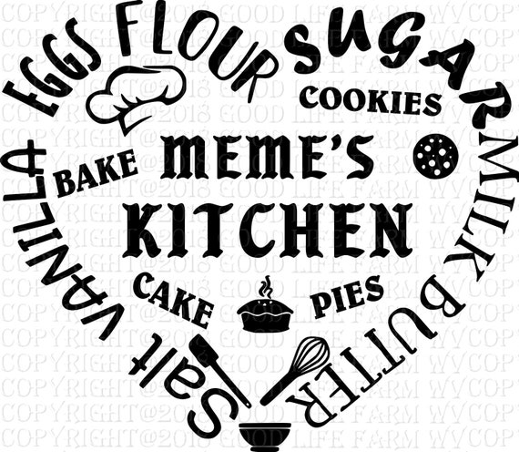 Meme S Kitchen Svg Png Jpeg Eps Cutting File Instant Etsy