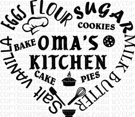 Oma S Kitchen Svg Png Jpeg Eps Cutting File Instant Etsy