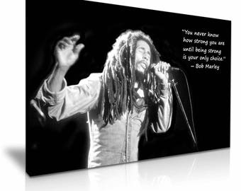 Bob Marley Music Iconic Canvas Wall Art Picture Print 76cmx50cm