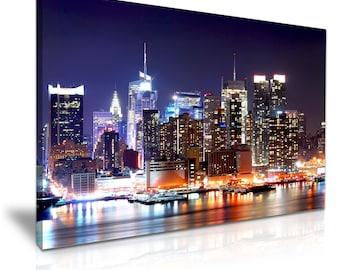 NEW YORK Skyline Canvas Wall Art Picture Print 76cmx50cm