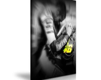 Valentino Rossi Canvas Moto GP Sport Star Art Print 50cmx76cm