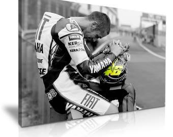 Valentino Rossi Canvas Moto GP Sport Star Art Print 76cmx50cm
