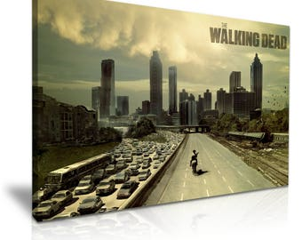Walking Dead Stretched Canvas Wall Art Picture Print 76cmx50cm