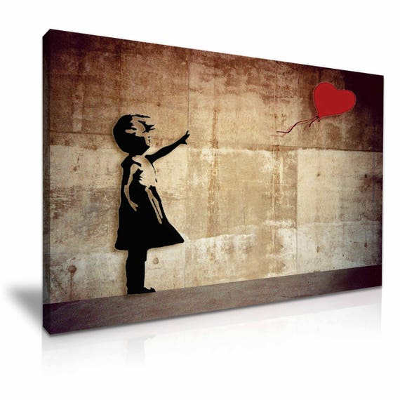 Banksy Balloon Girl New Design Stretched Canvas Wall Art