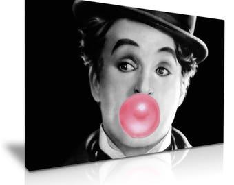 Charlie Chaplin Funky Canvas Wall Art Picture Print 76cmx50cm