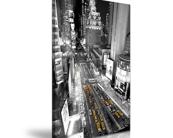 NEW YORK Times Square Skyline Yellow Taxi Canvas Wall Art Picture Print 50cmx76cm
