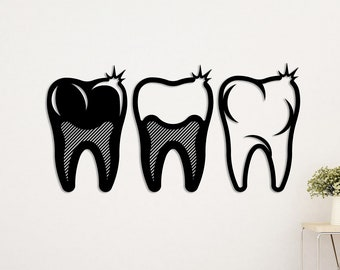 Delicieux Metal Wall Art Dental Silhouettes Design/Metal Art/Dentist Office/Wall Art/Wall  Decor/Metal Decor Love/Free Shipping/Unique Gift