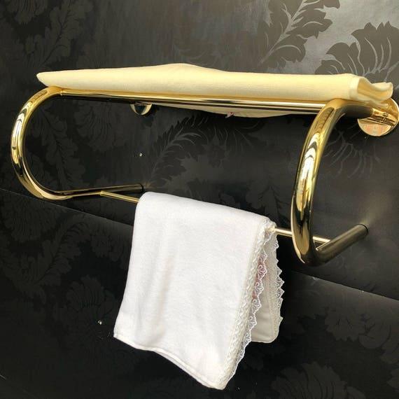 Shelf Rack With Two Towel Bars Bathroom Mirror Polished