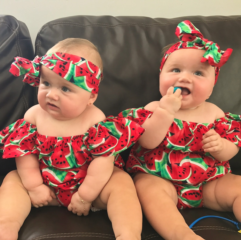 867a69466 One in a Melon First Birthday Outfit Watermelon Romper Baby   Etsy