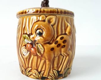 SMALL CANISTER has cookies Vintage 1960's Japan