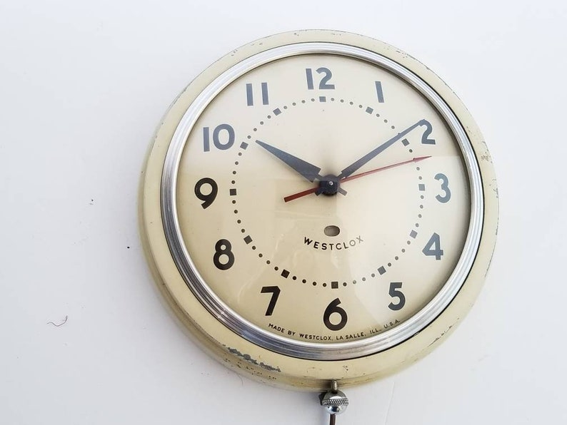 Westclox Electric Wall Clock Made In Usa 1950 Etsy