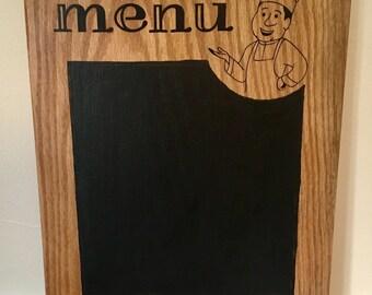 Menu chalk board
