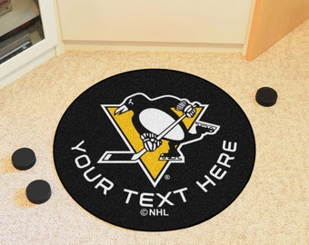first rate 30549 03654 Personalized NHL Pittsburgh Penguins Decor Products   Roundel Rug, Hockey  Puck Mat, Accent Rug, Grill Mat   Pens Fan   Officially Licensed