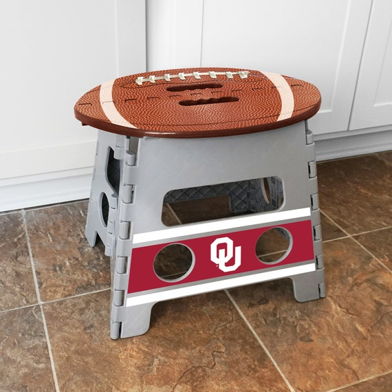Awesome Oklahoma Sooners Plastic Folding Step Stool With 250 Lb Capacity Great For Adults The Perfect Potty And Toothbrush Stool For Kids Beatyapartments Chair Design Images Beatyapartmentscom