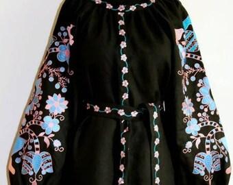 Ukrainian Dress Vyshyvanka Bohemian Clothes Boho Dresses Ukrainian Embroidery Abaya Dress Vishivanka Modern Cloth Traditional Clothing