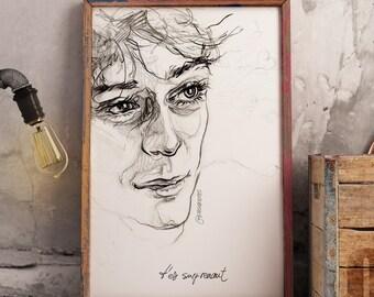 """SKAM France Elliott's """"t'est suprenant"""" look - illustration -A3 print"""