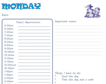 c6fc89d5a0420 Daily Planner dogs - downloadable