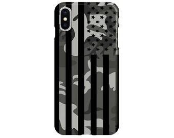 64007057f9cf Camo American Flag Case - iPhone XS