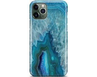 Cute Geode Slice Agate Stone iPhone 11