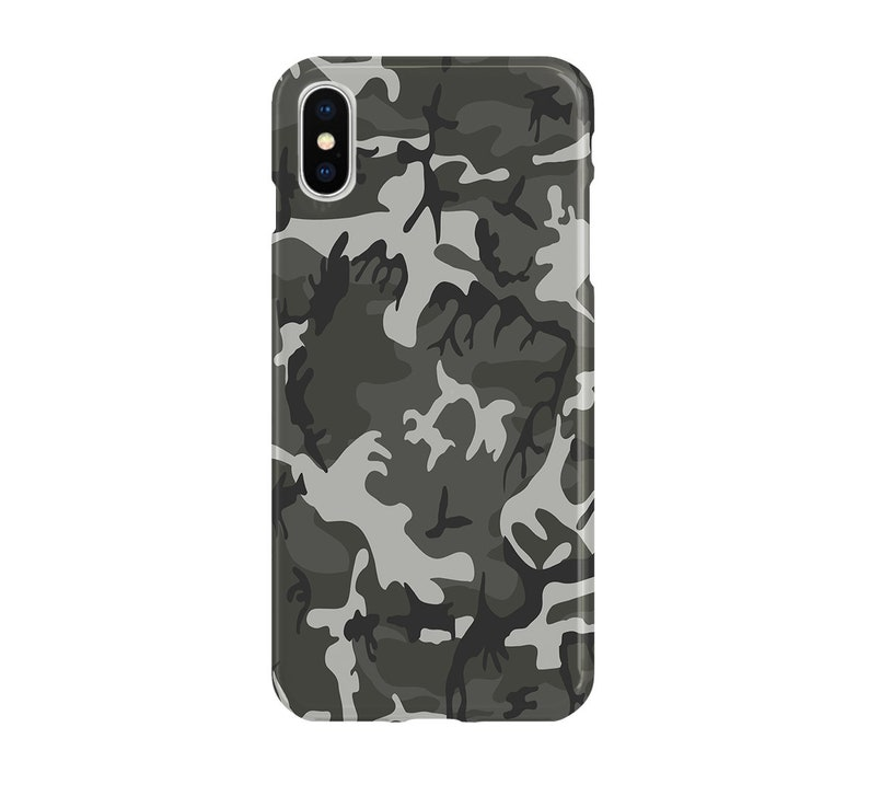 online retailer 77154 deb3a Grey Camo Case - iPhone XS, Google Pixel 3 XL, Samsung Galaxy S9 Plus, Note  9, iPhone 8, iPhone 7, LG G7, Google Pixel 2, iPhone 6