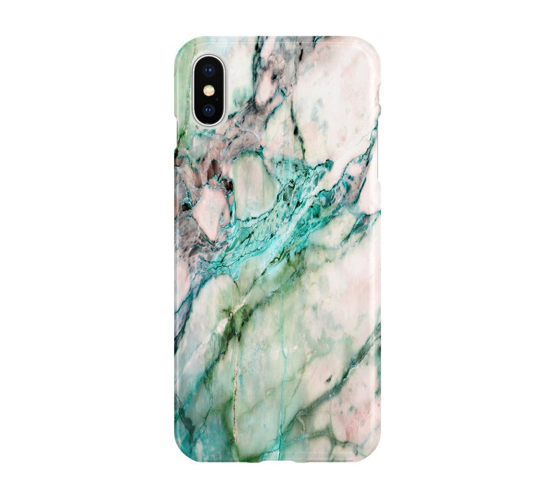 808fac9ce1252 Turquoise Marble Case - iPhone XS Max, Google Pixel 3, Samsung Galaxy S9,  iPhone X, Note 9, iPhone 8 Plus, iPhone 7, Google Pixel XL