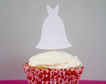 Wedding Dress Cupcake Topper