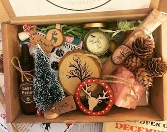 Adults Christmas Eve Hamper, Eco Christmas Gifts, Christmas Present, Christmas Gift Set, Christmas Gifts For Her, Christmas Gift Box Couples