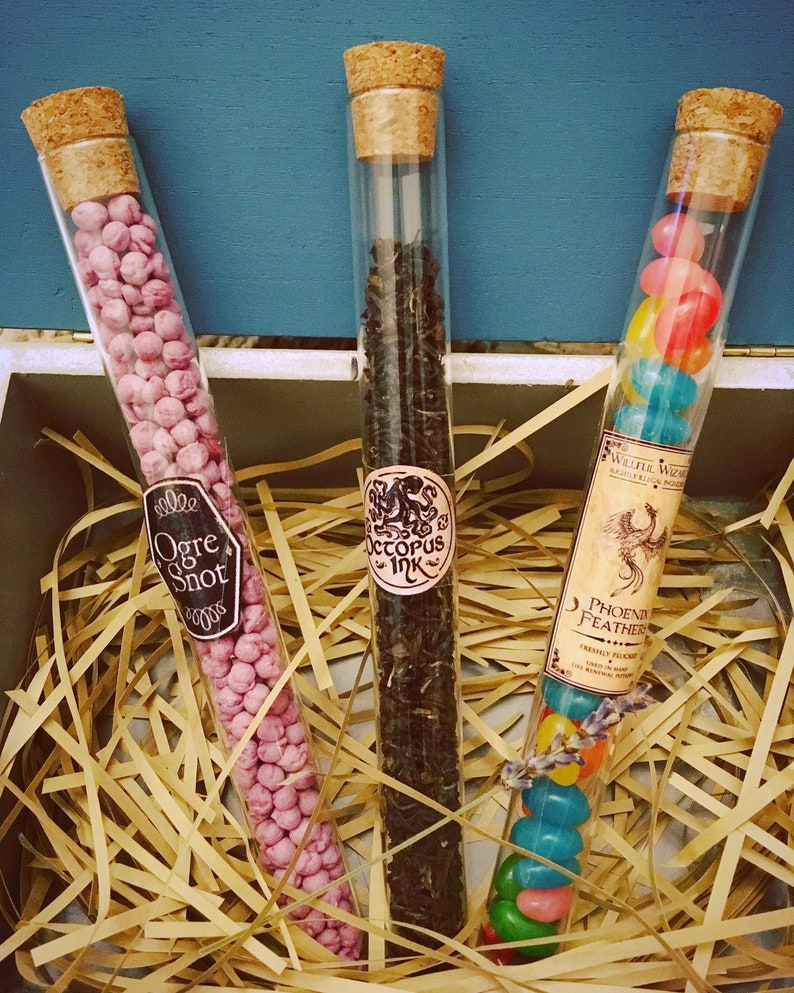 Magic Wizard Tea Sweets Hot Chocolate Test Tubes Harry Potted image 0