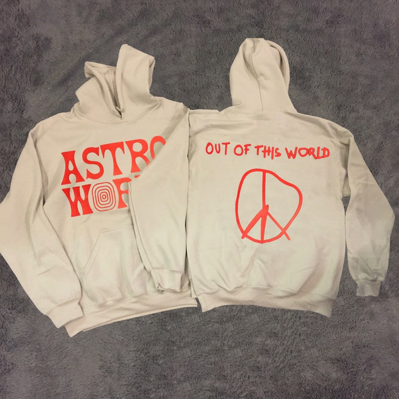 3c463fa72d4c Travis Scott ASTROWORLD Out Of This World Hoodie Sand image ...