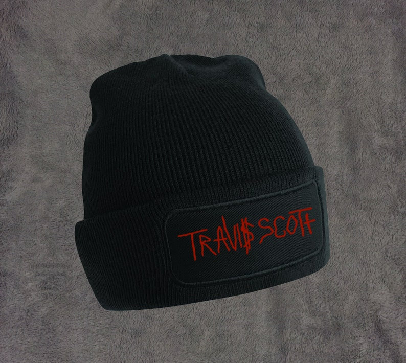 edda9424fe0 Travis Scott Beanie hat Black One Size Fits All