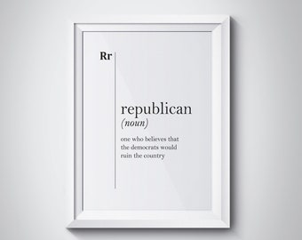 office wall logo republican definition print gift political quotes republicanism wall art office decor home modern dictionary wall decor etsy