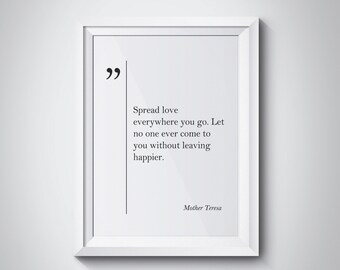 Mother Teresa Poster Etsy